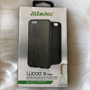 Eutec iPhone 6 Plus black, wood decal